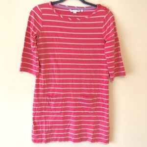 Boden Pink Stripy Tunic Dress